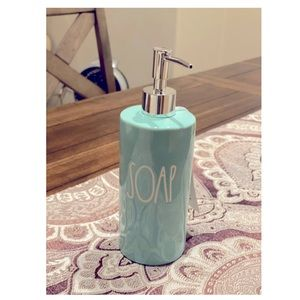 Rae Dunn Bathroom Teal Blue Soap Dispenser